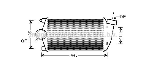 Intercooler radiateur de turbo AVA QUALITY COOLING PR4071 (X1)