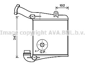 Intercooler radiateur de turbo AVA QUALITY COOLING PR4075 (X1)