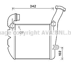 Intercooler radiateur de turbo AVA QUALITY COOLING PR4084 (X1)