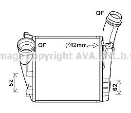 Intercooler radiateur de turbo AVA QUALITY COOLING PR4086 (X1)