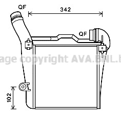 Intercooler radiateur de turbo AVA QUALITY COOLING PR4091 (X1)