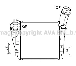 Intercooler radiateur de turbo AVA QUALITY COOLING PR4094 (X1)