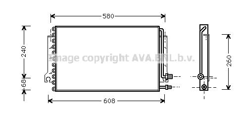 Condenseur / Radiateur de climatisation AVA QUALITY COOLING PR5024 (X1)