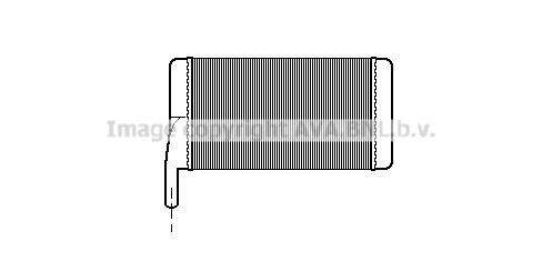 Radiateur de chauffage AVA QUALITY COOLING PR6012 (X1)