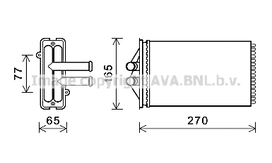 Radiateur de chauffage AVA QUALITY COOLING PR6082 (X1)
