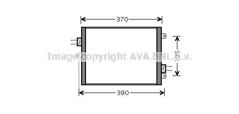 Condenseur / Radiateur de climatisation AVA QUALITY COOLING PRA5052 (X1)