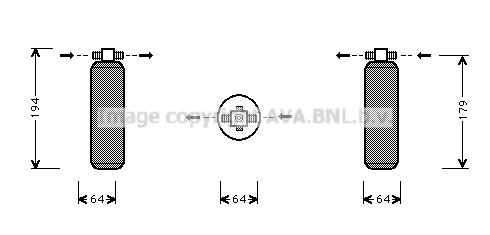 Bouteille deshydratante AVA QUALITY COOLING PRD028 (X1)