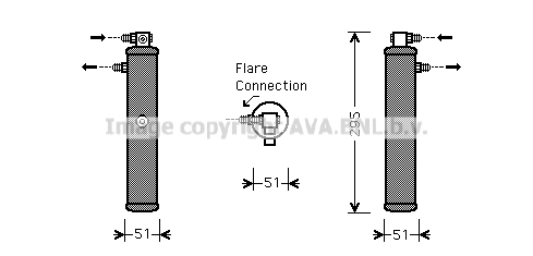 Bouteille deshydratante AVA QUALITY COOLING PRD050 (X1)