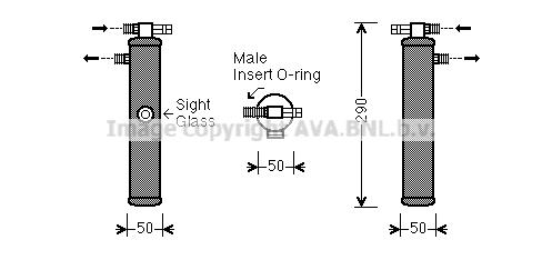 Bouteille deshydratante AVA QUALITY COOLING PRD065 (X1)
