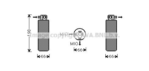 Bouteille deshydratante AVA QUALITY COOLING PRD079 (X1)