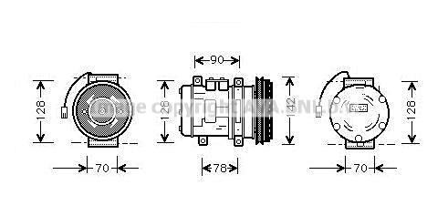 Compresseur AVA QUALITY COOLING PRK029 (X1)
