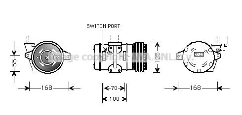 Compresseur AVA QUALITY COOLING PRK030 (X1)
