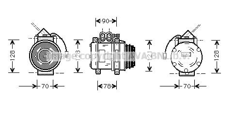 Compresseur AVA QUALITY COOLING PRK032 (X1)