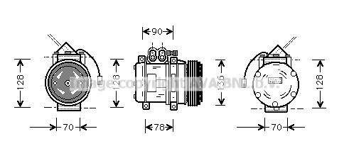 Compresseur AVA QUALITY COOLING PRK034 (X1)