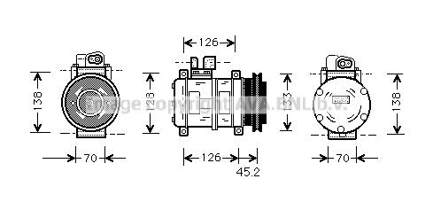 Compresseur AVA QUALITY COOLING PRK035 (X1)