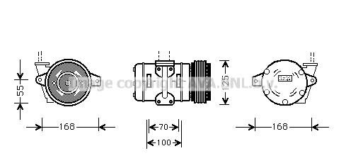 Compresseur AVA QUALITY COOLING PRK036 (X1)