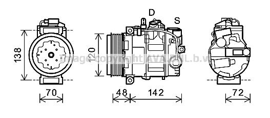 Compresseur AVA QUALITY COOLING PRK064 (X1)