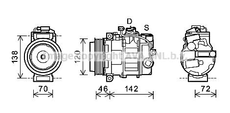 Compresseur AVA QUALITY COOLING PRK074 (X1)
