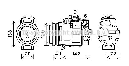 Compresseur AVA QUALITY COOLING PRK090 (X1)
