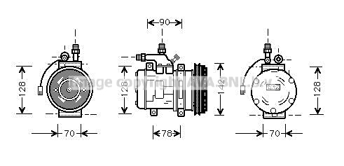 Compresseur AVA QUALITY COOLING PRK095 (X1)