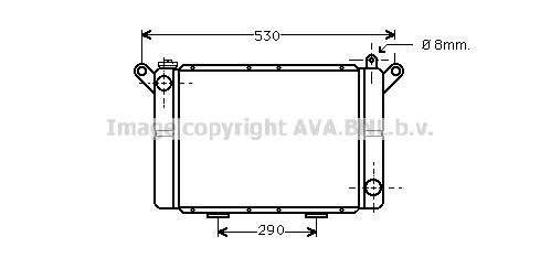 Radiateur de refroidissement AVA QUALITY COOLING RT2018 (X1)