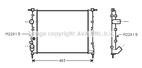 Radiateur de refroidissement AVA QUALITY COOLING RT2197 (X1)