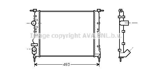 Radiateur de refroidissement AVA QUALITY COOLING RT2218 (X1)