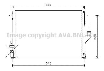 Radiateur de refroidissement AVA QUALITY COOLING RT2478 (X1)