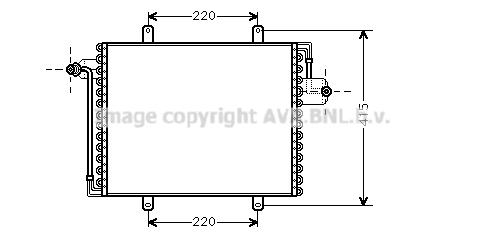 Condenseur / Radiateur de climatisation AVA QUALITY COOLING RT5195 (X1)