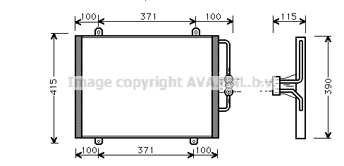 Condenseur / Radiateur de climatisation AVA QUALITY COOLING RT5201 (X1)