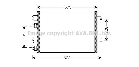 Condenseur / Radiateur de climatisation AVA QUALITY COOLING RT5317 (X1)