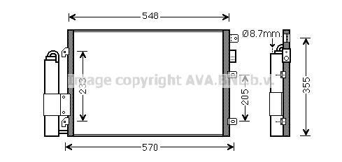 Condenseur / Radiateur de climatisation AVA QUALITY COOLING RT5376D (X1)