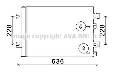 Condenseur / Radiateur de climatisation AVA QUALITY COOLING RT5467D (X1)