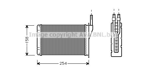 Radiateur de chauffage AVA QUALITY COOLING RT6087 (X1)