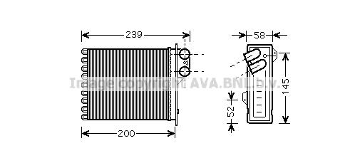 Radiateur de chauffage AVA QUALITY COOLING RT6398 (X1)