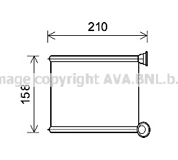 Radiateur de chauffage AVA QUALITY COOLING RT6629 (X1)