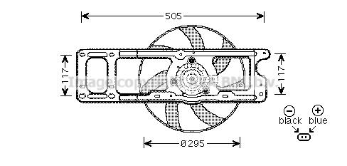 Ventilateur de radiateur AVA QUALITY COOLING RT7537 (X1)