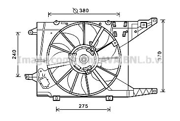 Ventilateur de radiateur AVA QUALITY COOLING RT7549 (X1)