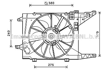 Ventilateur de radiateur AVA QUALITY COOLING RT7550 (X1)
