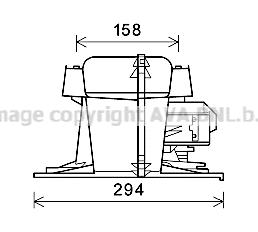 Moteur de ventilateur de chauffage AVA QUALITY COOLING RT8521 (X1)