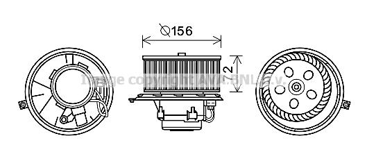 Moteur de ventilateur de chauffage AVA QUALITY COOLING RT8580 (X1)