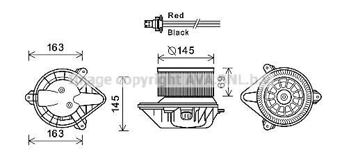 Moteur de ventilateur de chauffage AVA QUALITY COOLING RT8583 (X1)