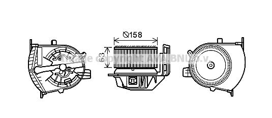 Moteur de ventilateur de chauffage AVA QUALITY COOLING RT8585 (X1)