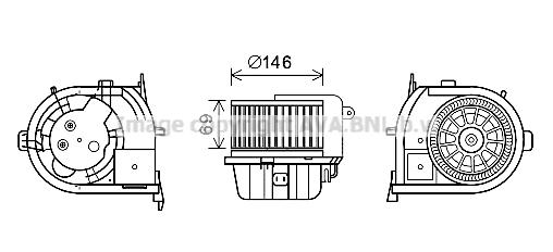 Moteur de ventilateur de chauffage AVA QUALITY COOLING RT8592 (X1)