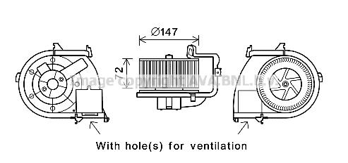 Moteur de ventilateur de chauffage AVA QUALITY COOLING RT8593 (X1)