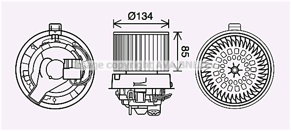 Moteur de ventilateur de chauffage AVA QUALITY COOLING RT8635 (X1)