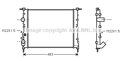 Radiateur de refroidissement AVA QUALITY COOLING RTA2197 (X1)