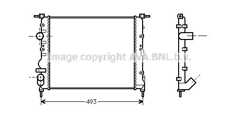 Radiateur de refroidissement AVA QUALITY COOLING RTA2218 (X1)