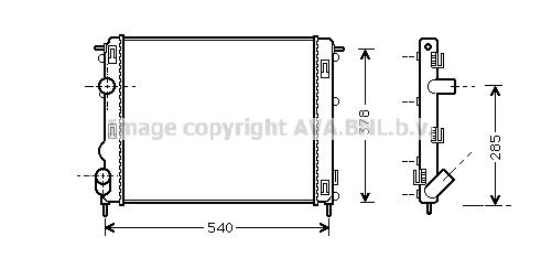 Radiateur de refroidissement AVA QUALITY COOLING RTA2269 (X1)