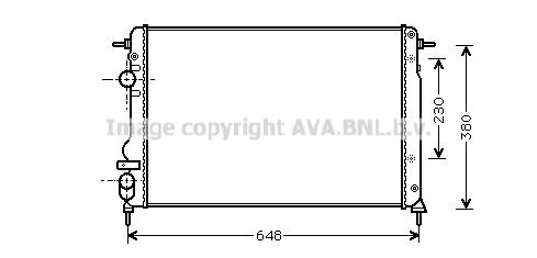 Radiateur de refroidissement AVA QUALITY COOLING RTA2312 (X1)